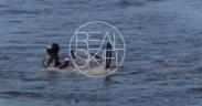 lyžař ve vodě